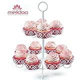 Melidoo Cupcake Muffin Dessert Ständer 2-stöckig | Metall Etagere für insgesamt 12 Muffins in...