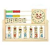 mark8shop Kinder Baby Kids Learning Entwicklungs-vielseitig Lasche Holz Zählrahmen Spielzeug