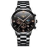 Herren Uhren Edelstahl Chronograph Herren Luxus Wasserdicht Luminous Datum Kalender Analog...
