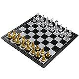 Schachspiel Magnetisch Einklappbar Schachbrett Pädagogische Speil für ab 6 Kinder 25x25cm