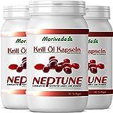 Krillöl Kapseln 270, 100% reines NEPTUNE Premium Krill Öl - Omega 3,6,9 Astaxanthin,...