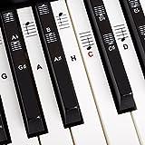 Klavier + Keyboard Noten-Aufkleber für 49   61   76   88 Tasten + Gratis Ebook   Premium Piano...