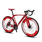 extrbici XC700 Sports Racing Road Bike 700Cx54/56cm Aluminium Legierung Rahmen 14 Speed Shimano 2400...