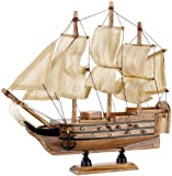 Playtastic Schiff Modellbau Kasten: Schiff-Bausatz 'Flaggschiff' aus Holz (70 Teile) (Holzbaukasten...