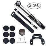 Victagen Tragbare Hochdruck Mini Fahrradpumpe 260 PSI mit Druckmesser Inklusive Reifenflickensatz...