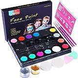 Kinderschminke Set, Professionelle Schminkfarben Sicher Kinder Gesichtsfarbe für empfindliche Haut,...