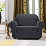 Subrtex 2 Stück kariert Sofabezug Sofahusse Sesselhusse Stretchhusse Sesselbezug Sofaüberwurf...