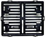 Motorrad Kennzeichenhalter Easy Chrom frameless 170x210mm schwarz - für österreichische...