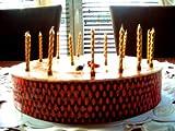 16 Kuchenkerzen in GOLD // Deko für Cupcakes, Muffins und Torten // Kerzen zum Geburtstag oder...