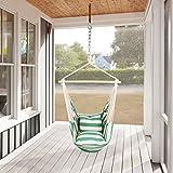 Holifine Hängesessel XL Hängesitz 120 x 150 cm Hängestuhl mit 2 x Kissen und Spreizstab aus Holz,...