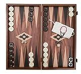 Backgammon, Kassette, Holz, Walnussoptik 47,5 cm