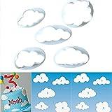 HENGSONG 5tlg. Keks Ausstechformen Cloud Wolken Ausstecher DIY Fondant Ausstechformen Deko...