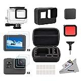 Deyard 25 in 1 Zubehör-Kit mit Shockproof Small Case Bundle für GoPro Hero 6 Hero 5 Action-Kamera