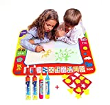 Magic Wasser Doodle Malmatte Für Kinder 80CMx60M,TQP-CK 4 Farben Doodle Matte zum Bemalen mit 4...