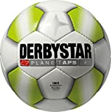 Derbystar Fußball Planet APS, Matchball, Ball Größe 5 (420 - 440 g), weiß lime, 1233
