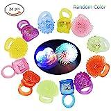 LED Blinkende Jelly Ringe, Blinkende Led Bumpy Gummi Ringe, Leuchtendes Spielzeug, Jelly Blase...