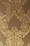 Vinyltapete Tapete Barock Retro # braun/gold # Fujia Decoration # 85787