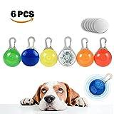 Hund Leuchtanhänger,Lnkey 6 PCS LED Blinkender Haustier Sicherheitslicht (Batterie inkl.) mit 3...