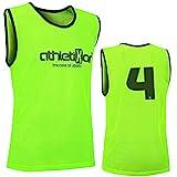12 Fußballleibchen mit Rückennummern - Trainingsleibchen - Leibchen - Markierungshemden von...