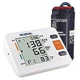 NURSAL Digitales Oberarm Blutdruck Messgerät mit WHO Anzeige und großem Display für zwei Nutzer...