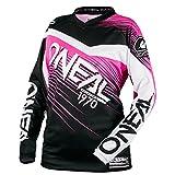 O'Neal Element Racewear MX Motocross Damen Jersey Enduro Offroad Gelände Quad Cross Shirt Pink,...