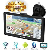 Hieha 7' Zoll LKW PKW GPS Navigationsgerät Navi Navigation Europe Traffic Bluetooth...
