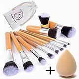 Start Makers 12-teiliges Makeup Pinsel Set Make Up Kabuki Pinselset Foundation Flüssige Dichte,...