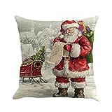 ZIYOU Christmas Series Kissen in den Maßen 45 X 45 cm im Weihnachtsmann Design / Dekokissen mit...