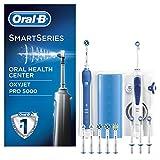 Oral-B Mundpflege Center - Oxyjet Munddusche + Oral-B SmartSeries 5000 Elektrische Zahnbürste, mit...