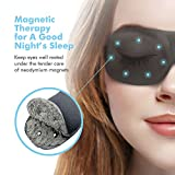 Schlafmaske Damen und Herren, Paitree 3D Magnettherapie Augenmaske  für komplette Dunkelheit und...