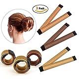 IBEET Bun Haarschmuck, Magic Hair Styling Donut Bun Maker, Hair Bun Shapers für Frauen Mädchen DIY...