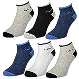 4 / 6 / 12 Paar Sport Sneaker Socken Herren mit Frotteesohle verstärkt Gemischte Farben - 16210...