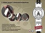 Köder-Discount: 3 x Pheromonfalle gegen Lebensmittelmotten