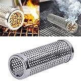 Albeey Räucherbox Smoker Box Smoker Tube, Edelstahl BBQ Räucherröhre für einen unverwechselbar...
