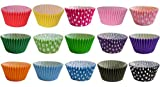180 Muffinförmchen: 15 gemischte Farben & Pünktchen Designs / 180 Muffin Cases: 15 Mixed Colours...