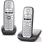 Gigaset E310 Duo Telefon - Schnurlostelefon / 2 Mobilteile - Grafik Display - Grosse Tasten Telefon...