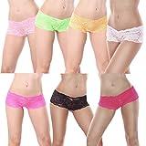 7er Pack Damen Panties Hipster mit verführerischen Spitzendetails MDU3409 Gr. 42