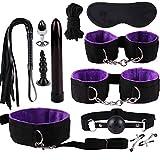 Solike Bondage Set, Sexspielzeug SM Set Fesselset mit Handschellen, Augenmaske, Halsband mit Seil,...