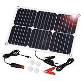 Suaoki Solar Panel 18W 18V Ladegerät Solarzelle Solarladegerät für Auto Boot RV Traktor Motorrad...