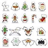 Anokay 18tlg. Fondant Ausstecher Schneeflocke Weihnachtsausstechformen Set aus Edelstahl -...