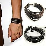 Honel Vintage Herren Armband Armreif Kunst Leder Arm Schmuck Geflochten Schmuck Geschenk Wristband...