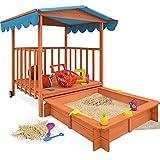 Sandkasten Dach XL Kinder Spielveranda Spielhaus Sandbox Spielveranda Holz Spielhaus Sonnenschutz...