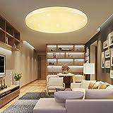 HG® 50W LED Deckenleuchte Deckenlampe Warmweiß Wandlampe rund Deckenbeleuchtung Wohnraum Sternen...