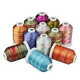 Simthread Multi-Farben Polyester Maschinen Stickgarn - 1,000 Meters, für...