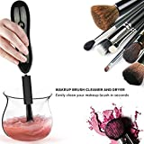 Make-up Pinsel-Reinigung und Automatische Trocken Werkzeug mit 8 Gummi Halsbänder (Schwarz)