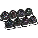 BuoQua 8 Stück 18X3W Lichteffekte DMX Bühnenbeleuchtung LED Bühnenlicht Controller für DJ Disco...