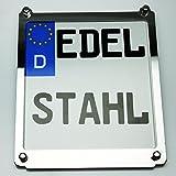 Exklusive Motorrad Kennzeichenhalter Edelstahl hochglanz poliert CLASSIC custom