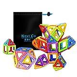 NextX Pädagogische Bausteine Sets, Magnetische Bauklötze Magnetspielzeug Weihnachtsgeschenk für...