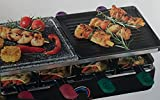 Raclette Grill QUIGG Elektrishes Raclette 1400 Watt Edelstahl heizschlange Beideseitig verwendbare...
