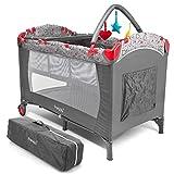 Froggy® Kinderreisebett Babybett mit Schlafunterlage, Matratze, Wickelauflage, Spielbogen,...